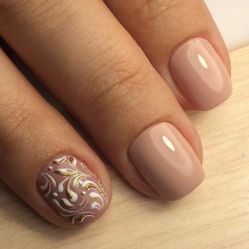 Patterned Nude Nail Designs picture 2