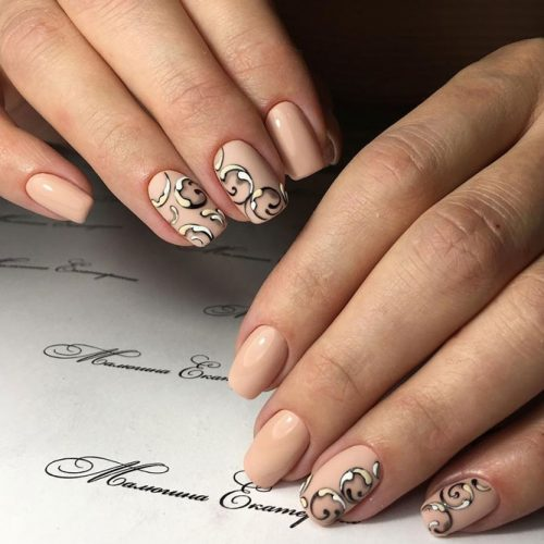 Patterned Nude Nail Designs picture 4