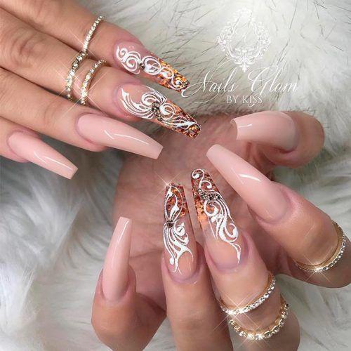 Glitter Ombre Nail Design #glitternails #longnails