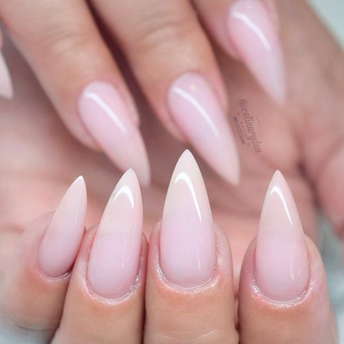 Simple Long Nude Nails #longnails #simplenails