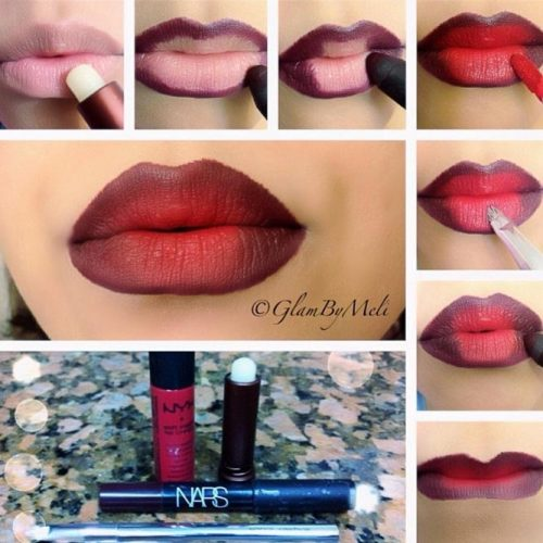 Ombre Lips Makeup Step by Step picture 4