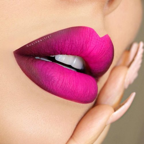 Trendy Ombre Lips Makeup picture 5