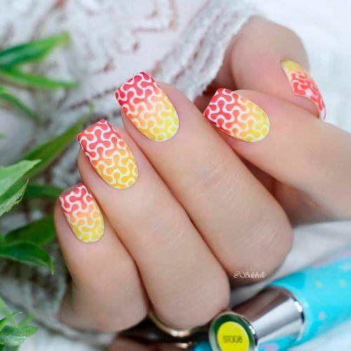Bright Ombre Nail Art #ombrenails #brightnails