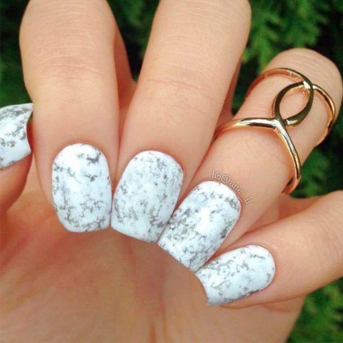 Short Marble Nails #shortnails #marblenails