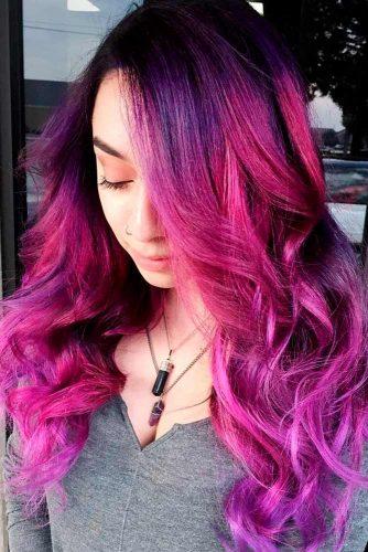 Reddish Purple and Black