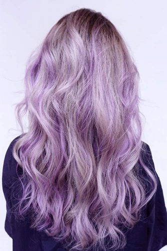 Blonde and Lavender Beach Waves