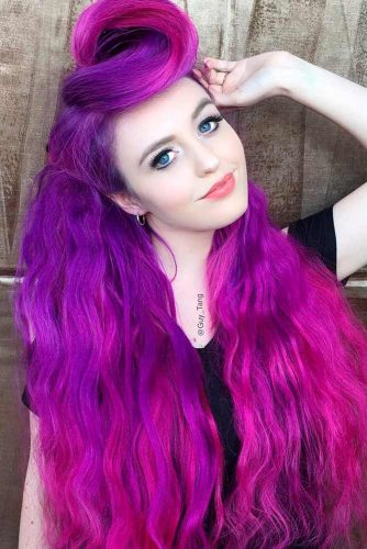 Purple and Hot Pink Ombre
