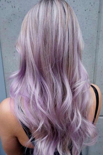 Dark Purple and Ash Blonde Ombre