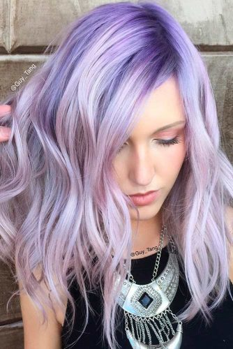 Subtle Lavender Highlights