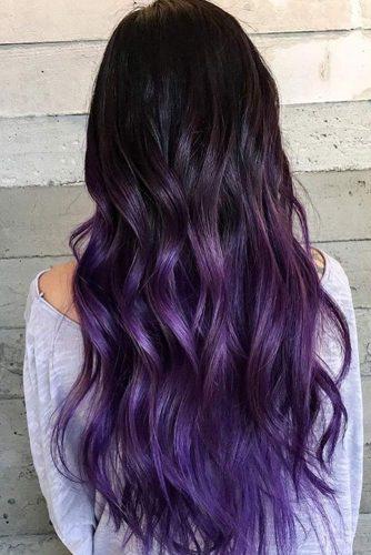 Lavender Tips on Long Hair