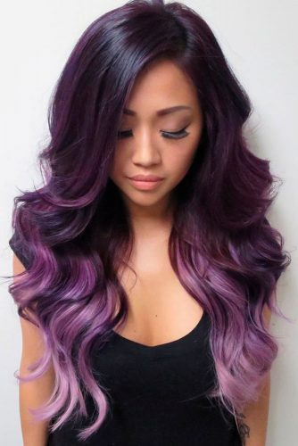 Lavender Highlights for Dark Hair