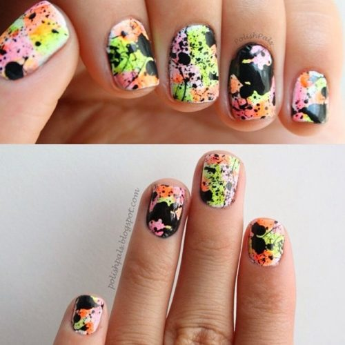 Sassy and Splashy Nail Art