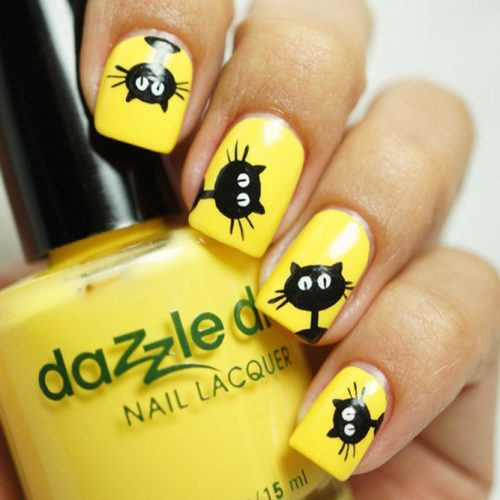 Cool Cat Nail Design