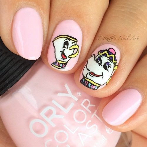 Tea Time Nail Art Design