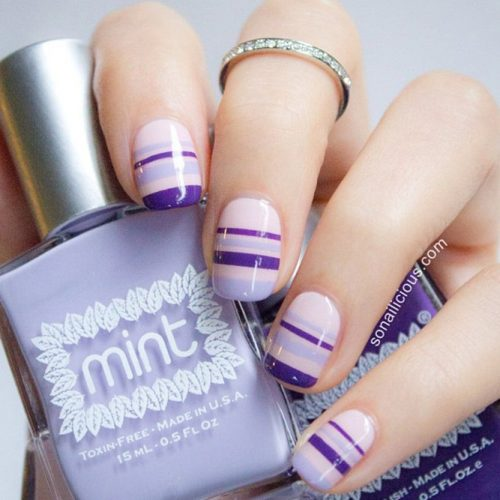Striped Nail Art