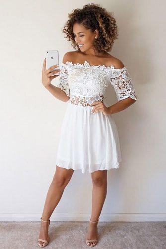 White and Black Graduation Dress Designs picture 3
