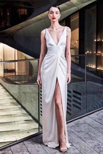 High Wrap LOng Prom Dress #whitedress #longdress