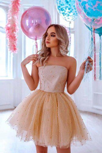 Short Strapless Prom Dress #shortdress #promdress