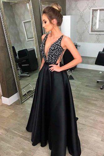 Black Prom Dress With Rhinestones #blackdress #longdress