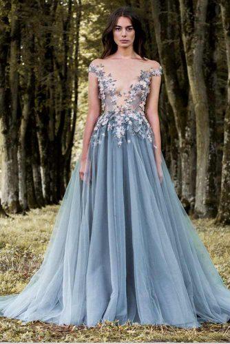 Long Floral Prom Dress Design