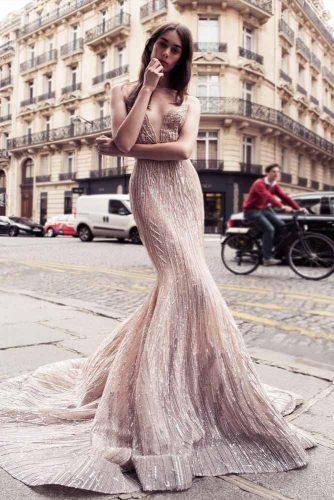 Beautiful Long V-Neck Prom Dress