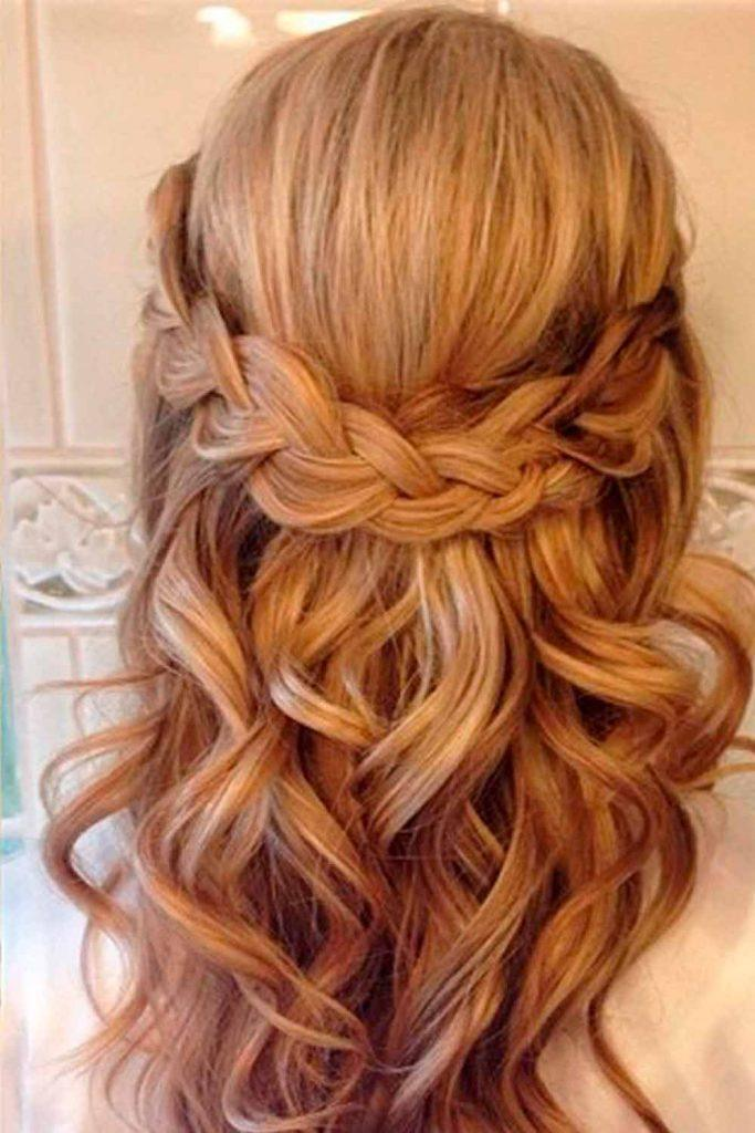 Simple Braided Half-Up #simpleweddinghairstyles #perfectlook