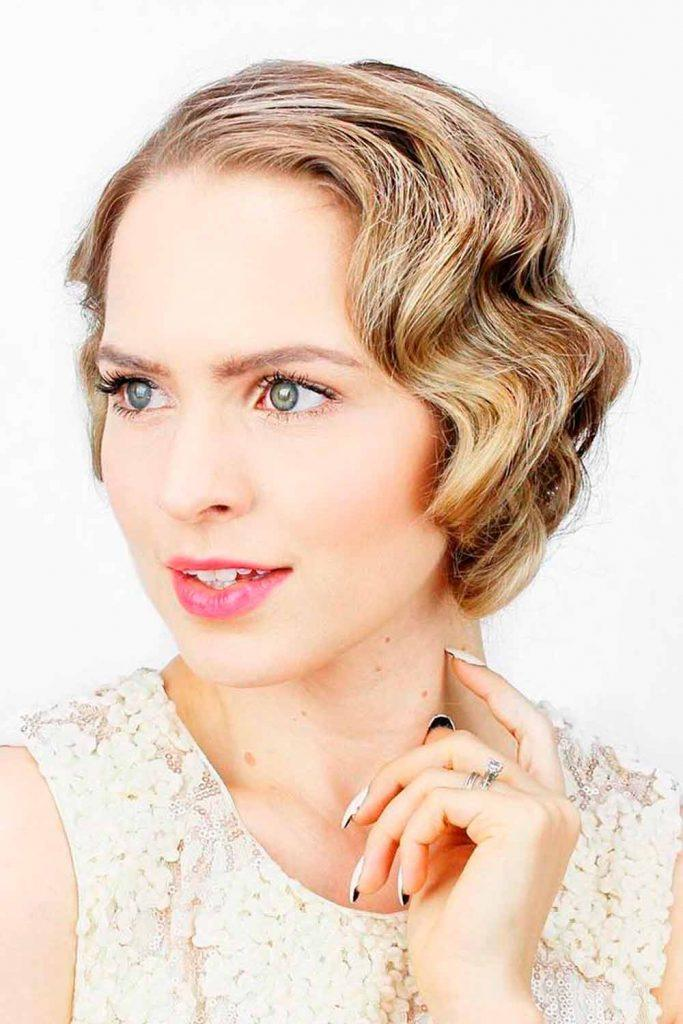 Shorthair With Retro Waves #retrowaves #easyhairstyles