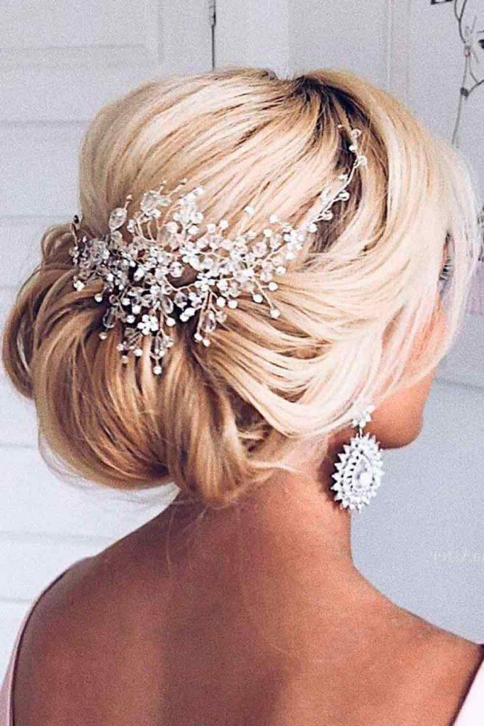 Easy Updo With Accessory #hairaccessories
