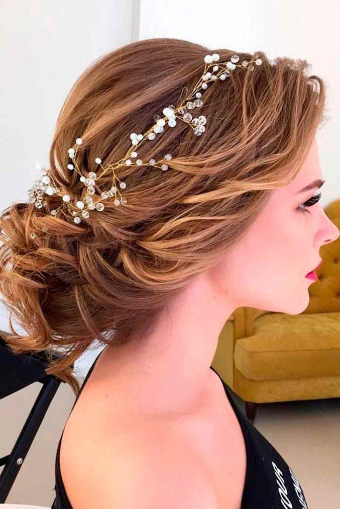 Elegant Wedding Updo #eleganthairstyles