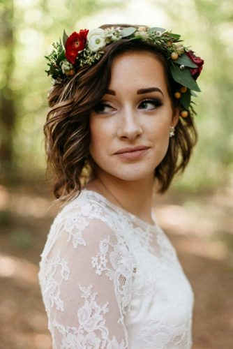 Cute Short Hairstyles for Beautiful Brides picture 4