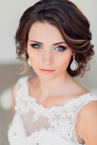 Cute Short Hairstyles for Beautiful Brides picture 6
