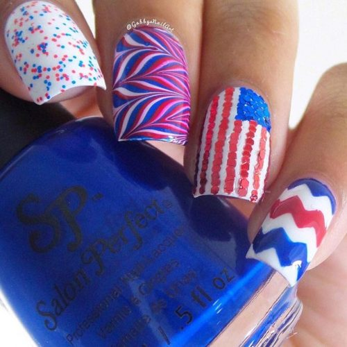 Red White and Blue Beautiful Nail Designs picture 1