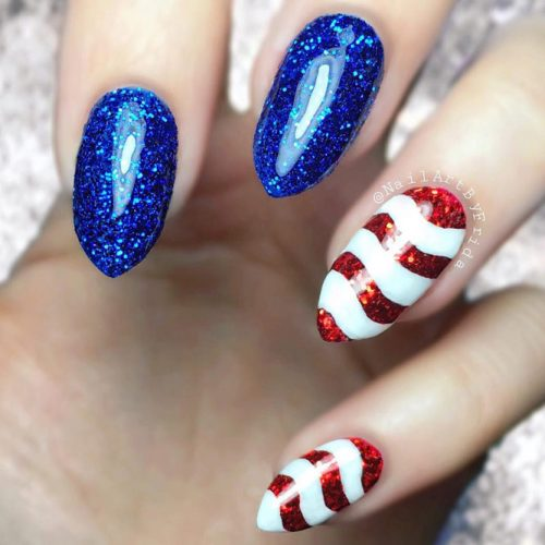 Red White and Blue Beautiful Nail Designs picture 2