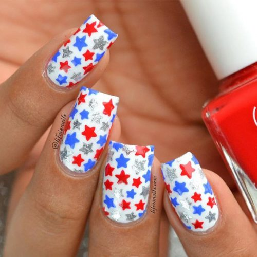 Red White and Blue Beautiful Nail Designs picture 4