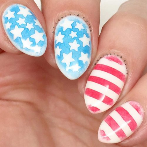 Red White and Blue Beautiful Nail Designs picture 5