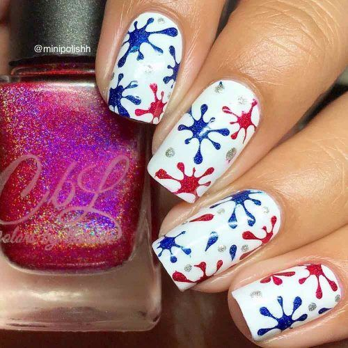 Red White and Blue Beautiful Nail Designs picture 6