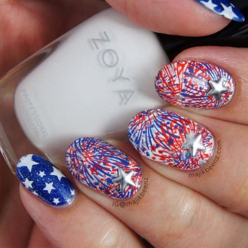 Red, White and Blue Holiday Nail Designs picture 5