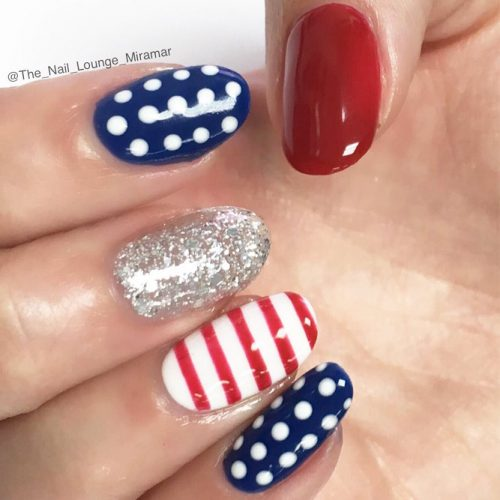 Red, White and Blue Holiday Nail Designs picture 1