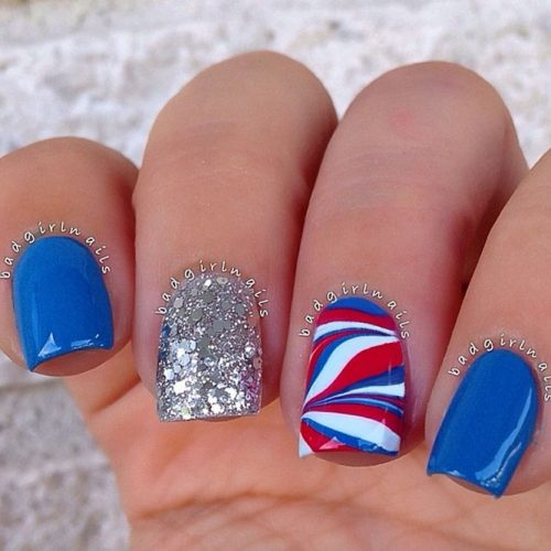 Red, White and Blue Holiday Nail Designs picture 3