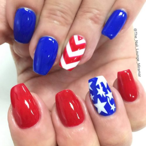 Red, White and Blue Holiday Nail Designs picture 4
