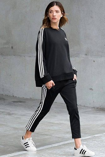 adidas sweats outfit women's