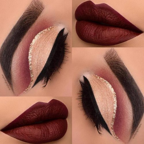 Beautiful Makeup Ideas with Maroon Lips picture 5