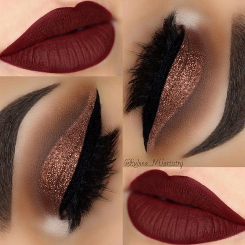 Beautiful Makeup Ideas with Maroon Lips picture 3