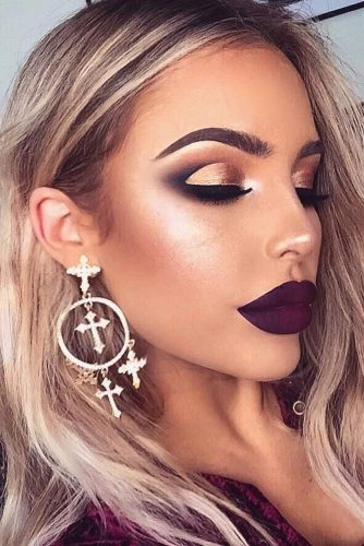 Perfect Looks with Maroon Matte Lipstick picture 4