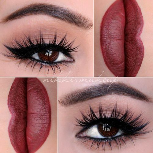 Maroon Matte Lipstick to Look Glamorous picture6