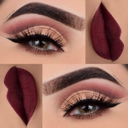 Maroon Matte Lipstick to Look Glamorous picture4