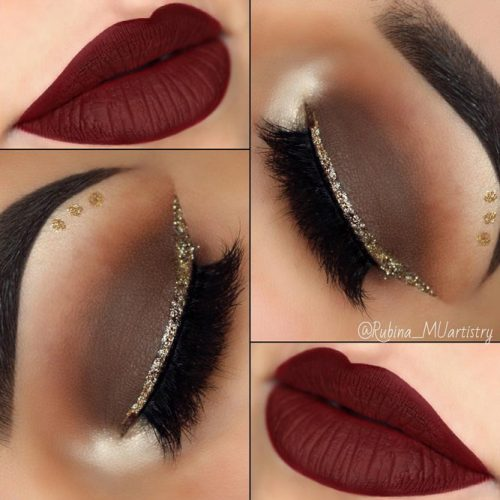 Beautiful Makeup Ideas with Maroon Lips picture 1