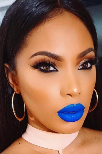 Pretty Makeup Ideas with Blue Lipstick picture 1