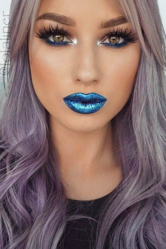 Trending Makeup Ideas with Blue Lipstick picture 3