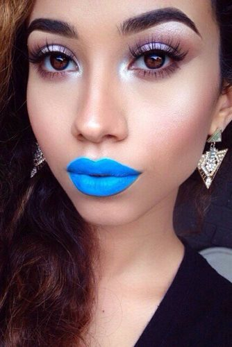 Pretty Makeup Ideas with Blue Lipstick picture 6